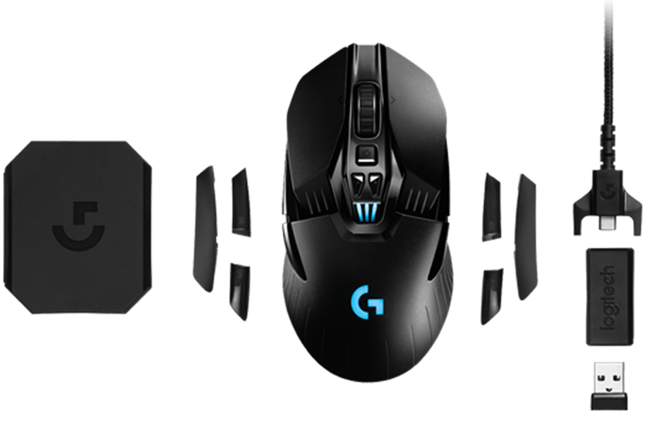 Used Logitech G903 LIGHTSPEED Wireless Gaming Mouse 12000DPI RGB Weightable Professional Player Choice