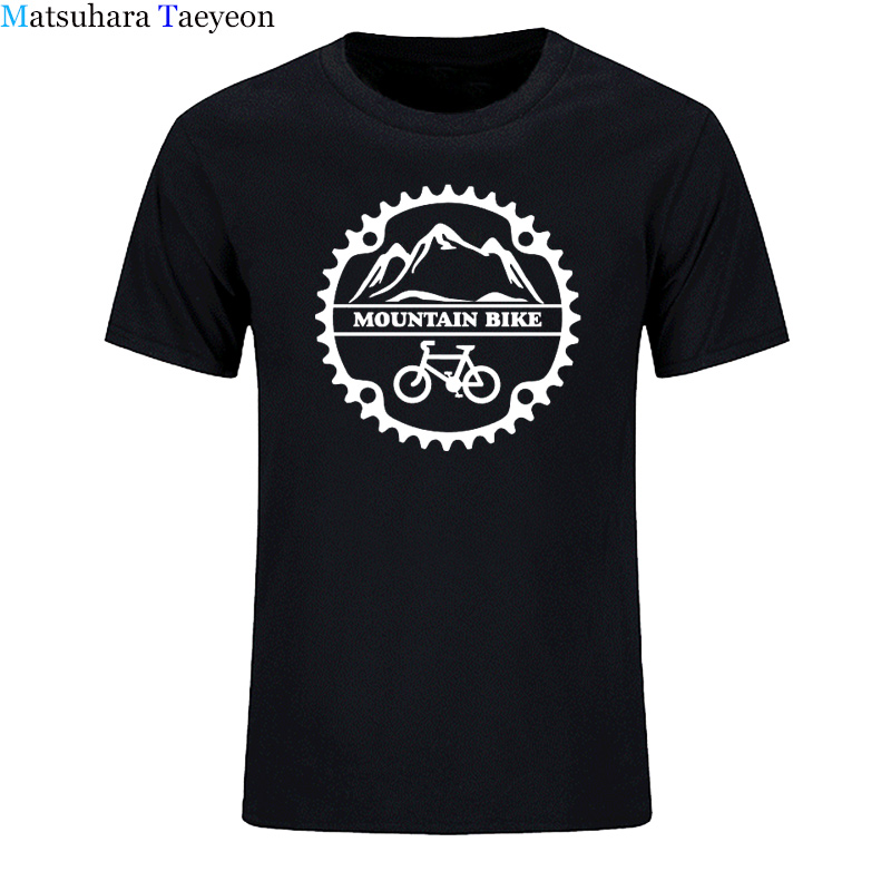 2018 New Men T-shirt Summer Cool Tee Shirt Mountain biker cycle cycles T Shirt Cotton O-neck tshirt casual clothing