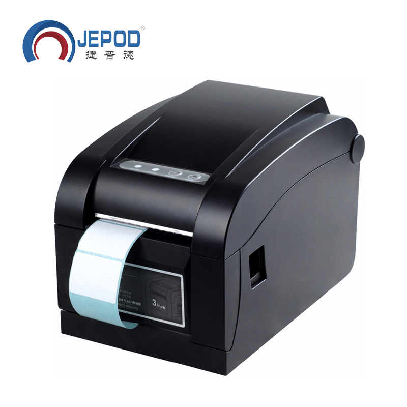 XP-350B JEPOD 20mm~80mm Direct Thermal USB Barcode Label Printer Thermal Barcode Printer Bar Code Printer