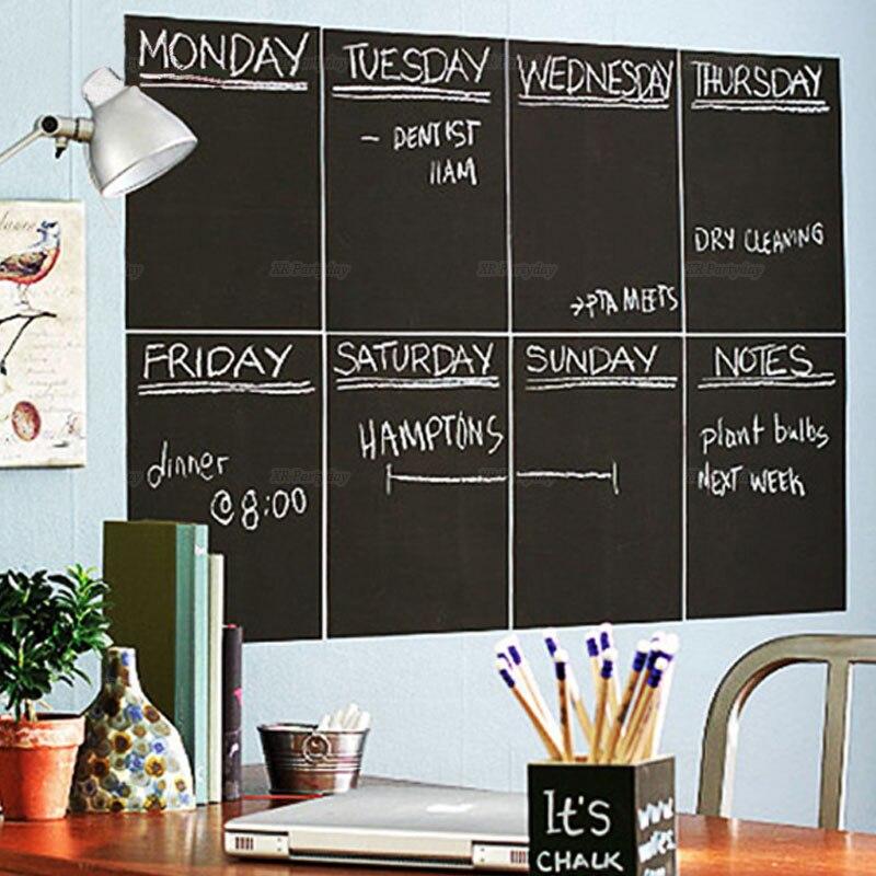 A4 Größe Tafel Bord Tafel Abnehmbare Wand Sticke Für Monat Plans Kalender Tafel DIY Home Decor navidad