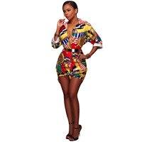 NOVO 2018 Sexy Moda Feminina Vestido Curto Bodycon Mini Vestidos de Festa de Impressão Vestido Coreano Roupa Por Atacado Frete Grátis M662