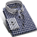 Fashion Boy Long Sleeve Plaid Shirt Men Brand Cotton Male Formal Business Casual Slim Fit Men's Designer Shirts Plus Size 4XL
