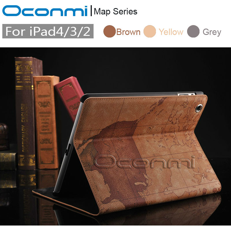 High quality World Map leather case for Apple iPad 2 3 4 with stand function credit card slots wallet cover for iPad 4 bag case цена 2017