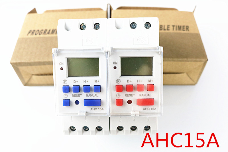 thc15a AHC15A 220V 30A Din rail timer relay time switches weekly programmble electronic TIME SWITCH bell ring device 1pc electronic weekly 7 days programmable timer thc15a ahc15a digital time timer switch relay din rail ac dc 12v 24v 110v 220v