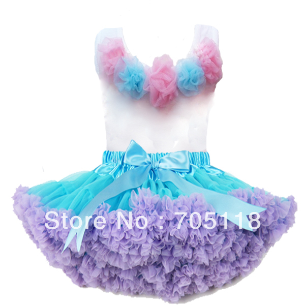 pink flower top + skirt set,baby Dress, pettiskirt, tutu Dress, Girls Tutu Skirt/FREE SHIPPING new hot sail 2015 children girl chiffon top skirt set baby pettiskirt tutu top girls tutu skirt free shipping