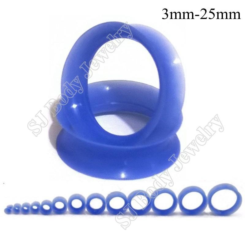 Thin Silicone Ear Skin Ear Tunnels Plugs Gauges Earskin Earlets Flesh Gauge 4
