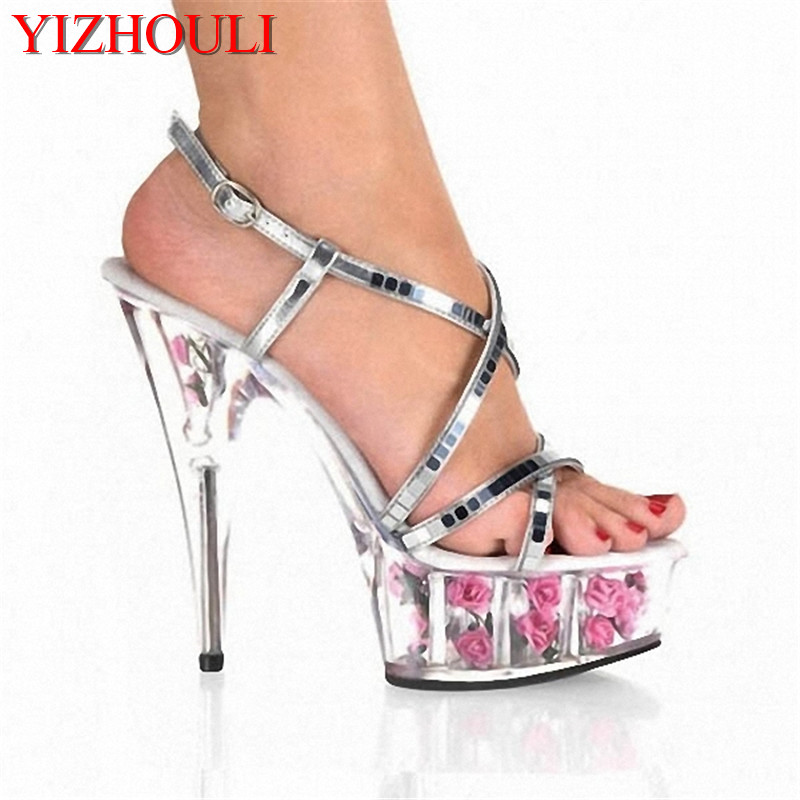 Aggressive Silver Sequins 15 Cm High-heeled Sandals Nightclub Dance Shoes Pole Dancing Shoes Model High Heels Womens Shoes Invigorating Blood Circulation And Stopping Pains Calendars, Planners & Cards