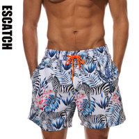 2019 Brand Quick Dry Men's Board Shorts Swimwear Man gym Bermuda Swimsuit Summer Surf Beach Shorts Sport