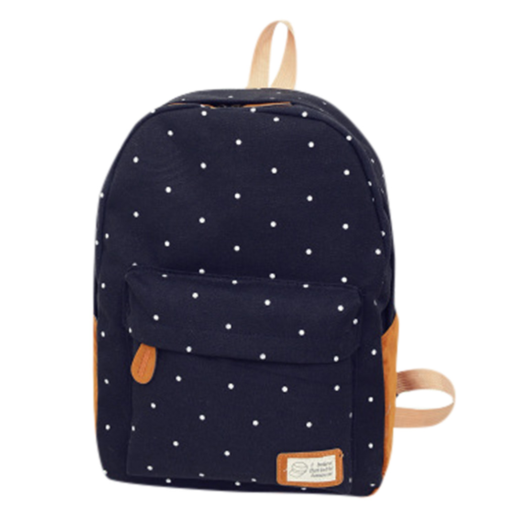 Wave-Point-Backpack School-Bag Woman Student New-Fashion Store -Zf
