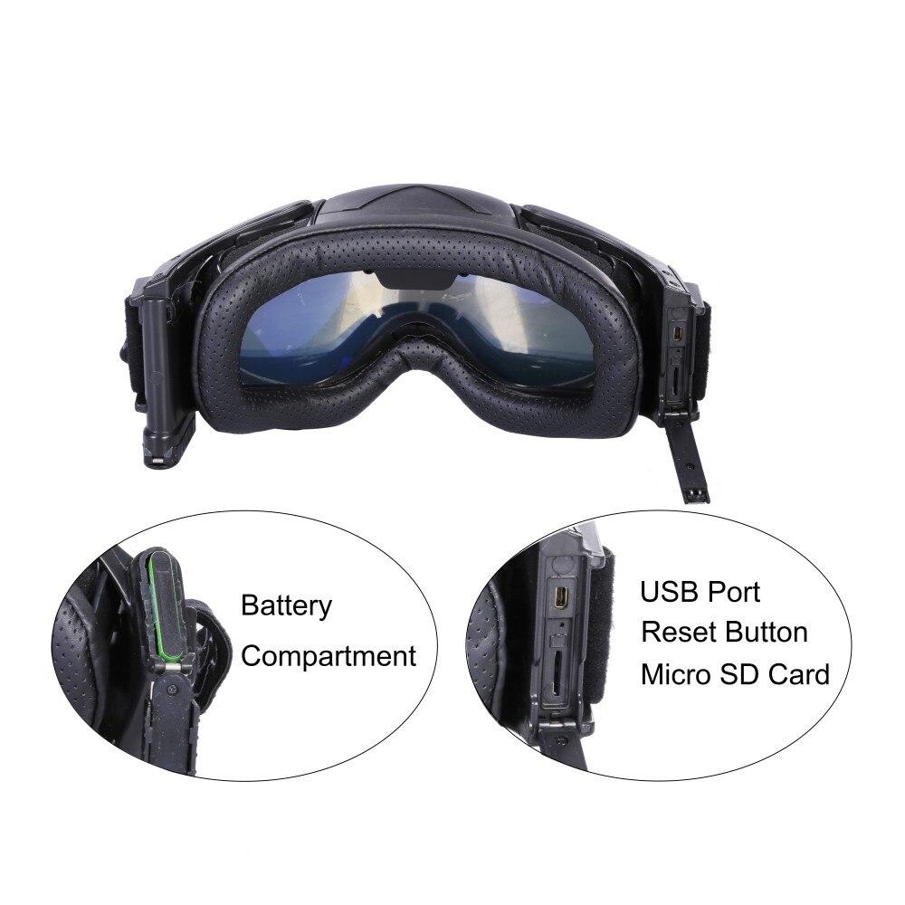 1080P HD Ski Sonnenbrille Brille WIFI Kamera & Bunte Doppel Anti Fog Objektiv für Ski mit Freies APP Live Bild Video Überwachung - 6