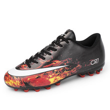 Fire Volcanic Picture Football Shoes Boys Girls Spike Soccer