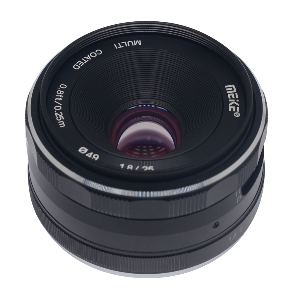 Meike 25mm f/1.8-16 Large Aperture Wide Angle Lens Manual Focus Lens for Canon EF M-mount M2 M6 M3 Mirrorless Cameras with APS-C