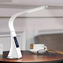 WoodPow lampada da scrivania a LED per affari luminosi lampada da scrivania dimmerabile ricaricabile lampada da tavolo a 3 luci modalità sveglia Display LCD