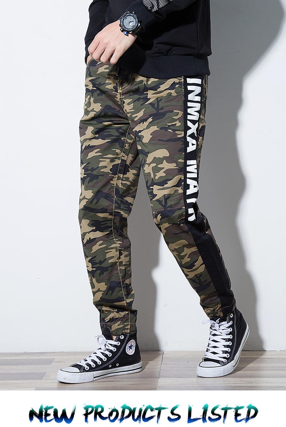 b5ebb8309 € 28.15 40% de DESCUENTO|Aliexpress.com: Comprar 2019 nuevos pantalones  vaqueros de hombre de moda de camuflaje elástico Harem Demin pantalones ...