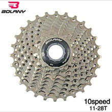 BOLANY Bicycle Casette Freewheel MTB Mountain Road Bike 10 Speed 11-28T Steel Plate Accessories