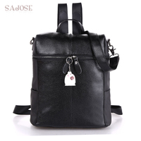 SAJOSE NEW 2017 Lady Japan And South Korea Style Preppy Style Leather Fashion Backpack Shoulder Girls