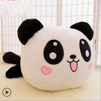 new arrival fashion 25cm Cute Stuffed Animal Panda Cushion pillow Plush Doll Toy Bolster Birthday Festival Gift image