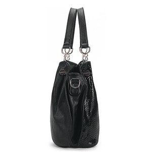 Image 3 - Bolso de mano grande de lujo para mujer, bandolera de piel auténtica de marca de lujo, informal, F 386, 2019