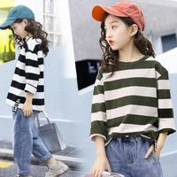 2020 Girls Clothing Set Striped Shirts + Denim Pants Jeans 2 PCS Girls Outfits Casual Style Teenage Kids Suits 10 12 13 14 year