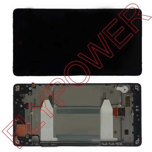 FOR ZTE Nubia Z9 MAX NX510J LCD Screen Display+Touch Digitizer +Frame Assembly by free shipping;black;HQ;