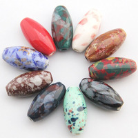 50pcs New Arrival 14*29mm Ceramic Porcelain Beads For DIY Ceramic beads