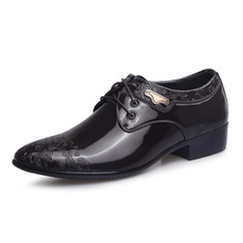 black brown embossed leather-based sneakers mans enterprise leather-based sneakers elegant luxurious man's workplace gown pig leather-based insole celebration sneakers