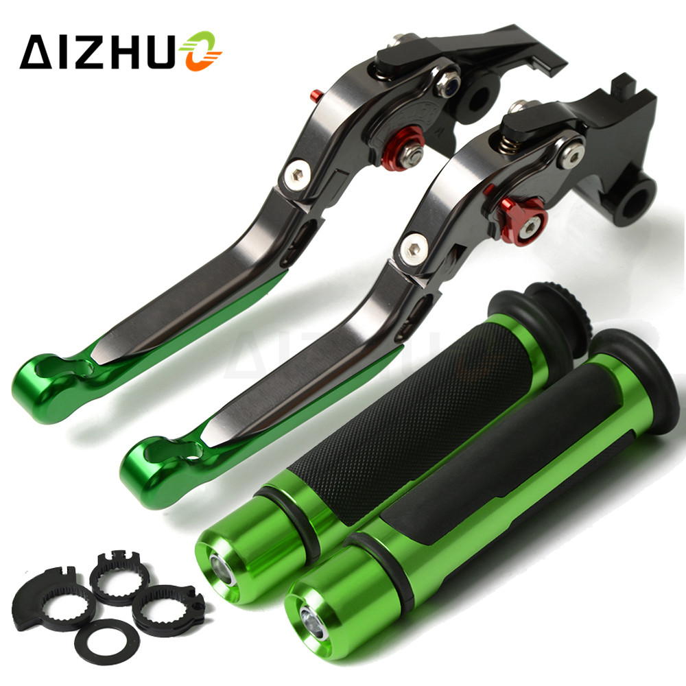 Motorcycle Brake Clutch Lever Adjustable+Handle Grips For <font><b>KAWASAKI</b></font> Z1000R <font><b>Z1000SX</b></font> Z1000 SX NINJA1000 TouReR Z900RS Z900 RS <font><b>2018</b></font> image
