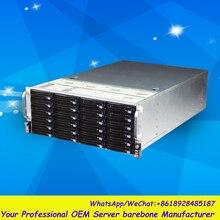 Стабильный огромный хранения 24 отсеков 4u hotswap стойки NVR NAS сервера шасси S46524
