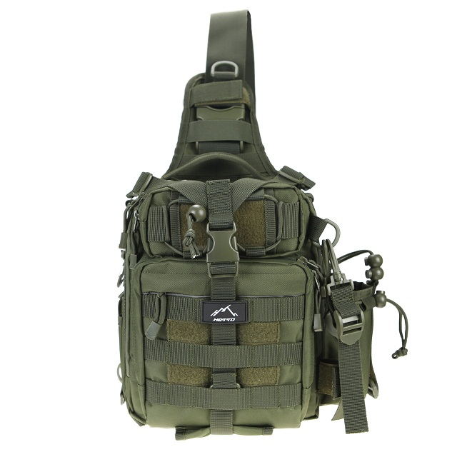 HETTO 1000D Nylon Crossbody Chest Bag Outdoor Waterproof MOLLE Military Backpack Tactical Sling Bag Shoulder