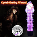 Dragon stick Crystal jelly Dildo mini AV wand vibrator sex toy massage female masturbation devices