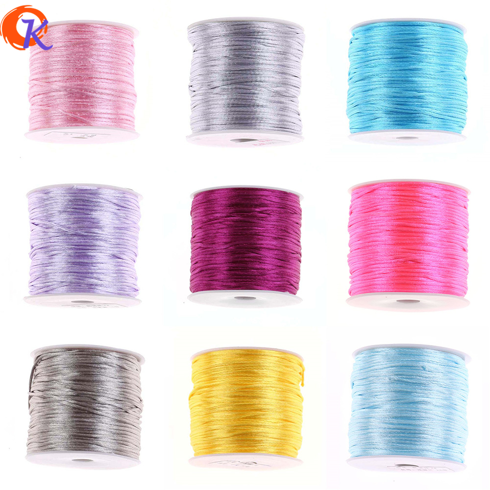 Cordial Design 1mm 70m/PC Reel Of Nylon Blend Color Chinese Satin Silk Knot Macrame Cord Beads Braided Wire