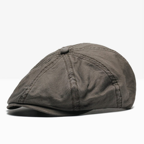 NUZADA British Style Flat Cap Visor Caps Cotton  Women Men Unisex Beret Hats Spring Autumn Retro Solid Color Boina Multan