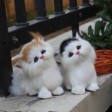 furry replica fake fur cat toy