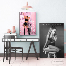 Sexy Ariana Grande Vintage Canvas Art Print Painting Poster Wall Pictures For Living Room Home Decoration Decor No Frame