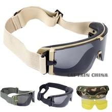 Военные страйкбольные тактические очки армейские тактические солнцезащитные очки армейские Пейнтбольные очки