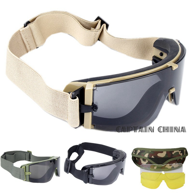 Militär Airsoft Tactical Goggles Army Tactical Solglasögon Glasögon Army Paintball Glasögon