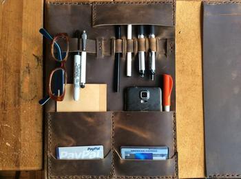 IPad portefeuille portefeuille En Cuir porte bloc-notes en cuir Grand portefeuille en cuir Juridique support pour iPad Sur Mesure pad folio