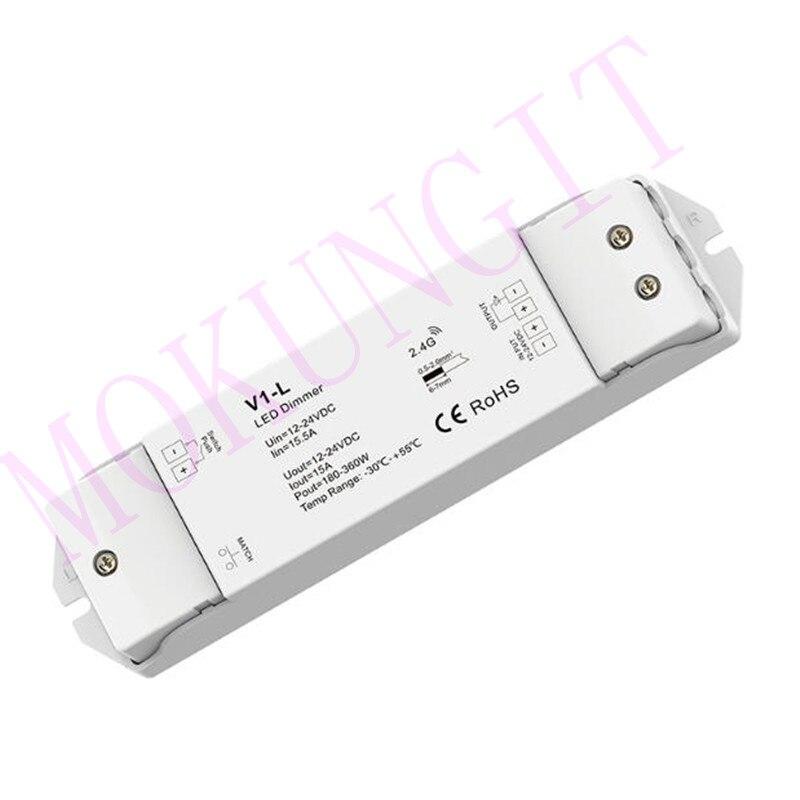 1CH*15A 12-24VDC CV Controller(Push Dim) V1-L Dimmer V1-L Controller