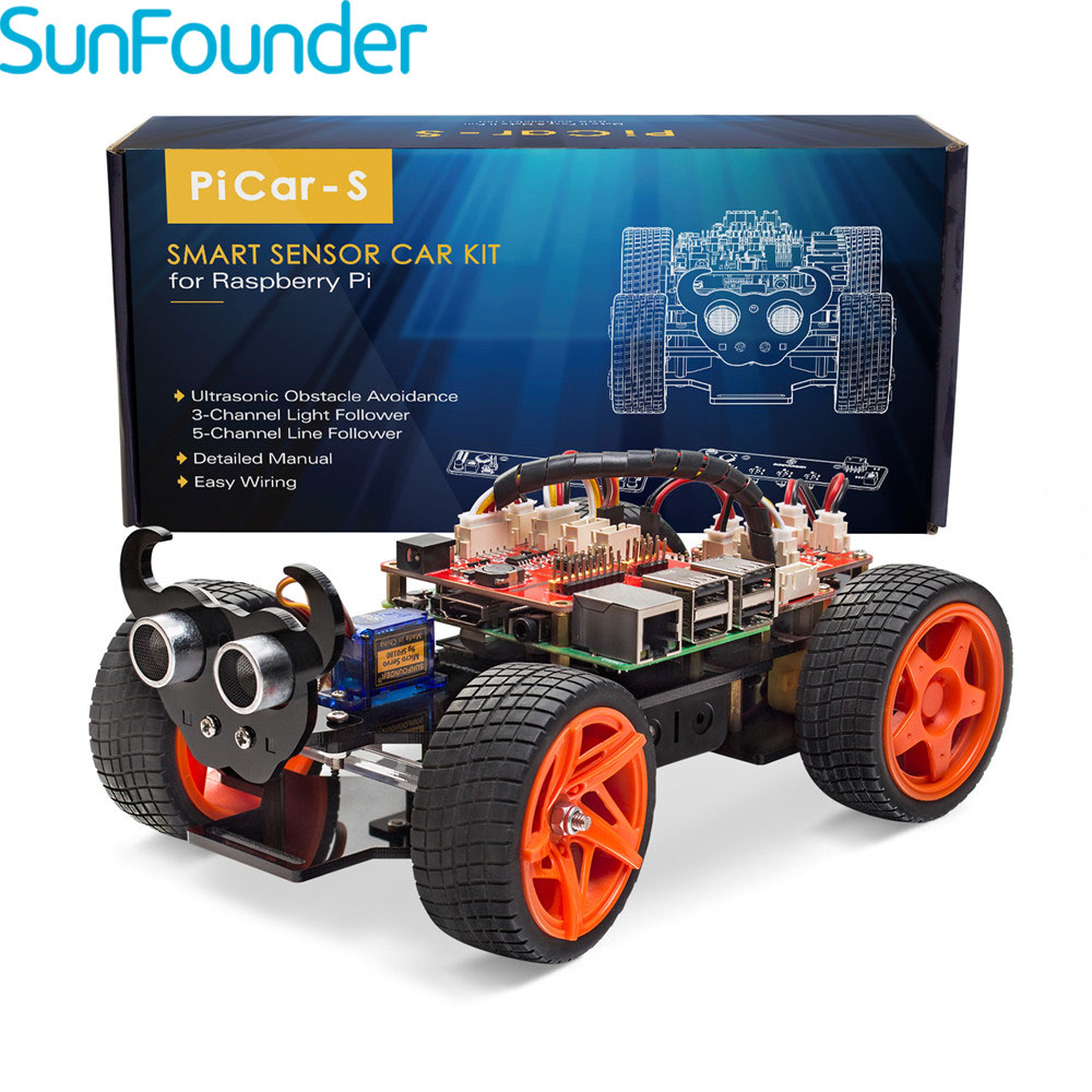 High Tech Toys Toys & Hobbies Sunfounder Sf-rollbot Programming Smart Car Kit With Bluetooth Module Line Following Module For Kids & Adults Toy