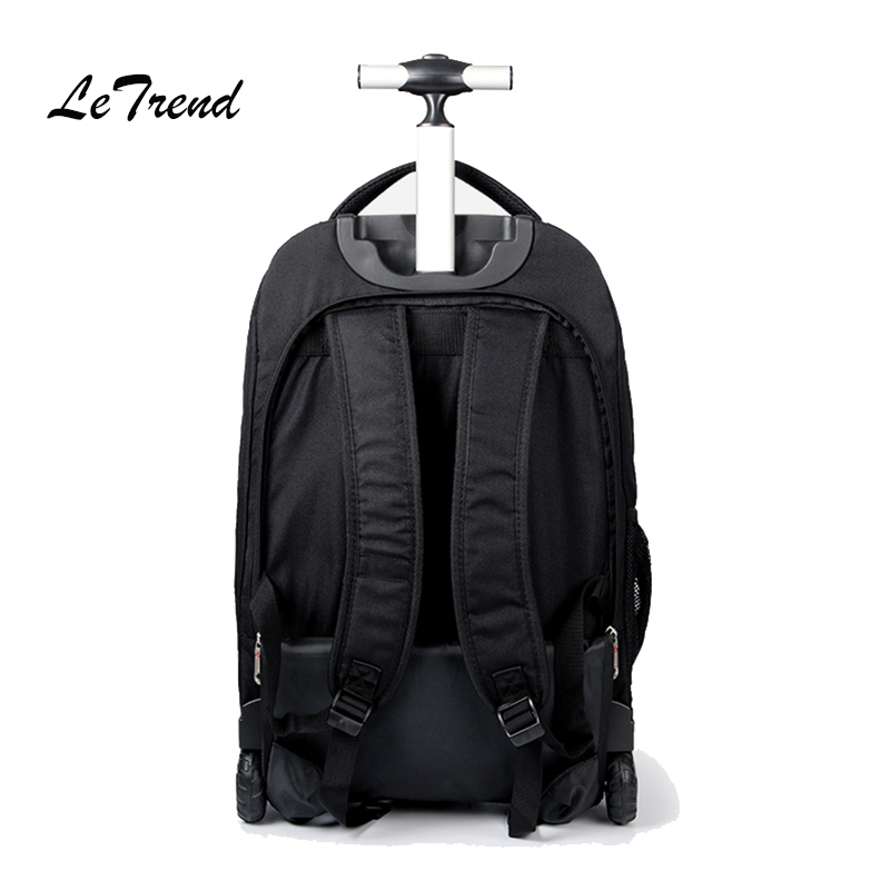 Letrend Men Business Travel Duffle 20 inch Carry On Suitcase Wheels  Computer Backpack Rolling Luggage Casters. sku  32825162934 eca1c013ee8ea