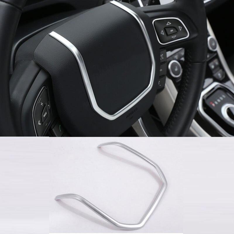 ABS cromo volante tiras decorativas cubierta pegatinas para Land Rover Range Rover Evoque accesorios interiores 2012-2017