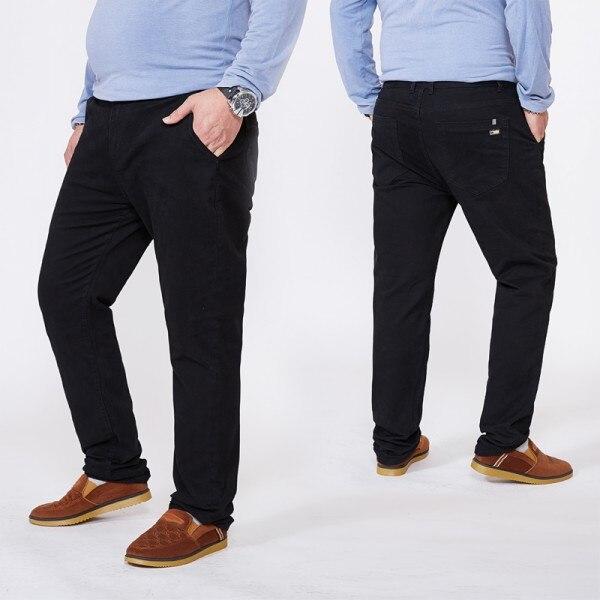 Топ размера плюс 6xl 46 44 48 мужские большие хип-хоп брюки хлопок Новые Большие размеры мужские повседневные брюки - Цвет: black 1