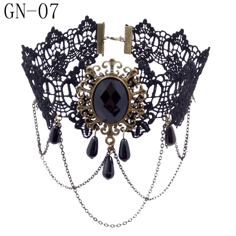 HTB1ozQ1KXOWBuNjy0Fiq6xFxVXaP - YiYaoFa Vintage Choker Necklace Gothic Jewelry Necklaces & Pendants False Collar Statement Necklace for Women Accessories GN-07