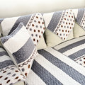 Flannel Flocked Europe Geometric Combination Kit Sectional Sofa Sofa Cover