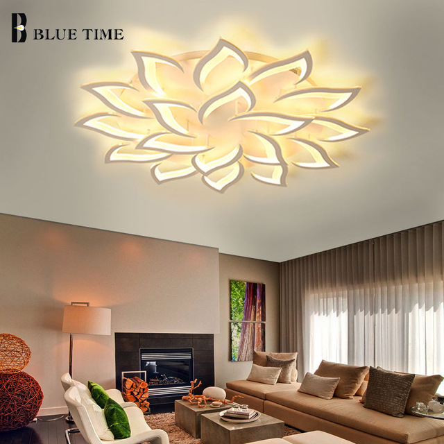 Modern Led Chandelier Acrylic Hangling Lamps For Living Room ...