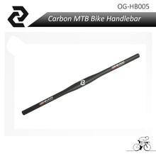 Impulse sales lightest OG-EVKIN Mountain bike handlebar 3K full carbon bicycle handlebars MTB bike parts 31.8*620-640mm