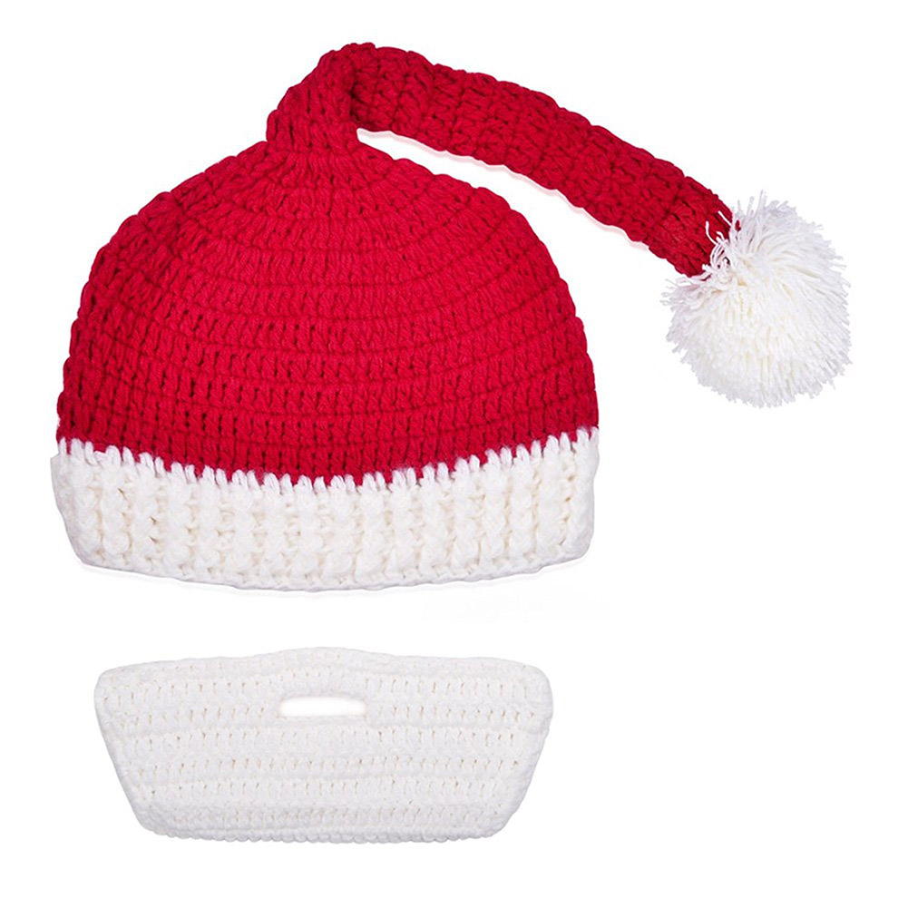 14b438ed55965 Beard Hat Beanie Hat Knit Hat Winter Warm Octopus Hat Windproof Funny for  Men   Women Red White