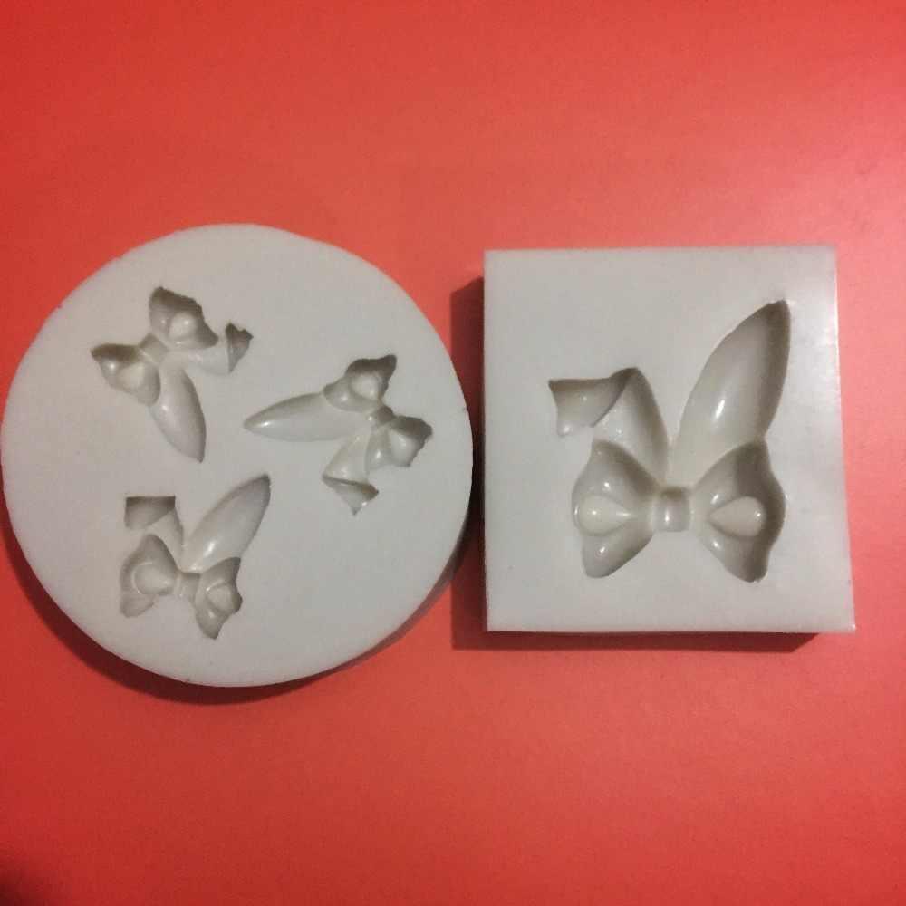 Инструменты для торта Пасхальный кролик ухо бабочка силиконовая форма в виде бантиков декор для капкейков мастика для украшения помадка инструмент плесень