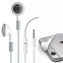 Stereo 3.5mm jack Headset Earphone Volume Control & Mic for iPhone 6 6s 5 5S 4 4S 3GS iPod ipad 2 3