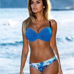Sexy Bikini 2019 Women Push Up Swimsuit Biquini Brazilian Sexy Bikini Set Swimwear Bandeau Female Beach Bathing Suit Swim Wear